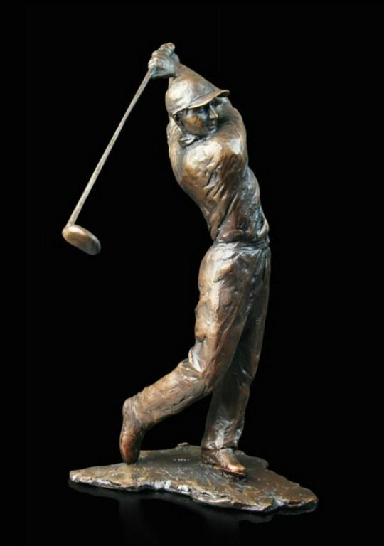 Photo of Golfer Bronze Figurine (Limited Edition) Michael Simpson