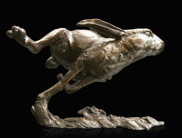 Photo of Hare Running Bronze Figurine (Limited Edition) Michael Simpson