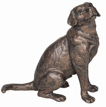 Photo of Harry Labrador Sitting Bronze Sculpture (Frith)