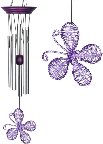 Photo of Isabelles Dancing Butterfly - Purple Wind Chime (Woodstock)