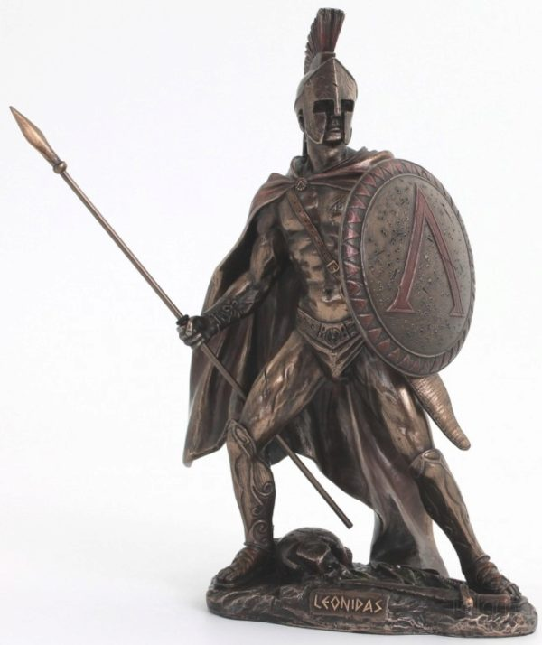 Photo of Leonidas King of Sparta Bronze Figurine 26 cm