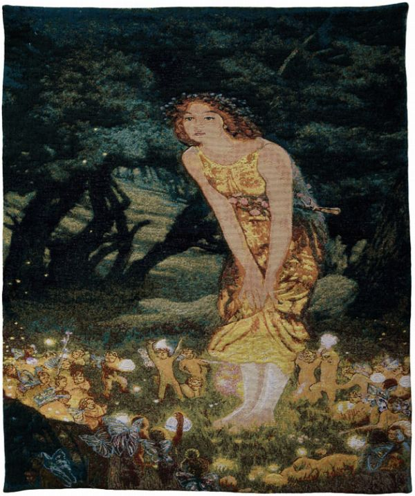 Phot of Mid Summers Eve By Edward Robert Hughes Wall Tapestry