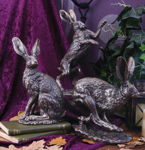 Photo of Moonlight Hare Bronze Figurine (Andrew Bill)