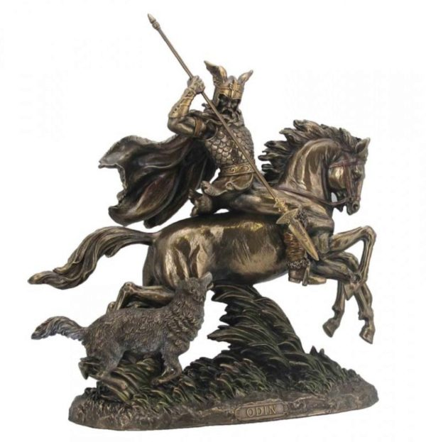 Photo of Odin on Eight Legged Horse Sleipnir Bronze Statue Large