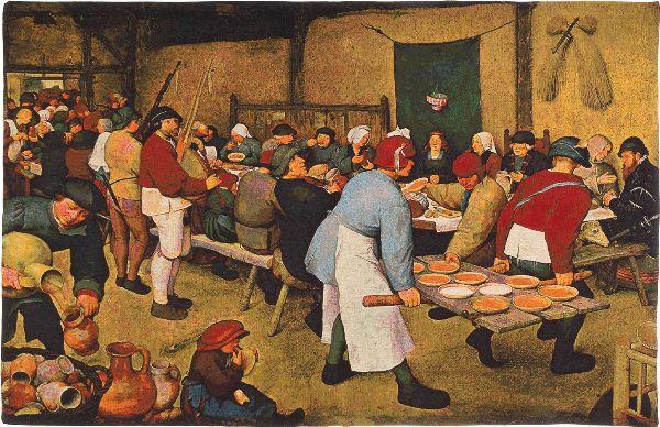 Phot of Peasants Wedding Meal By Pieter Bruegel Wall Tapestry