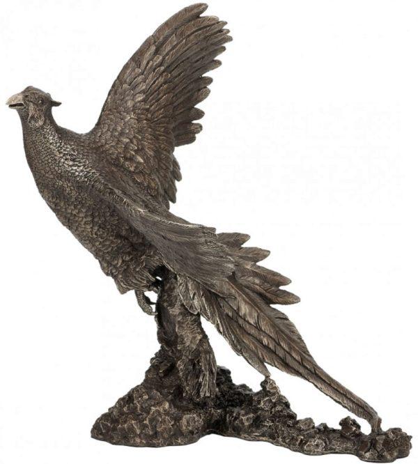 Photo of Pheasant Breaking Cover Bronze Sculpture (David Geenty) 30.5cm