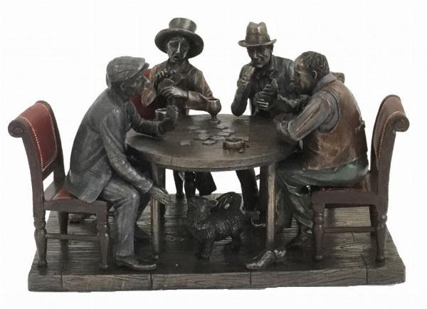 Photo of Poker Night Bronze Figurine