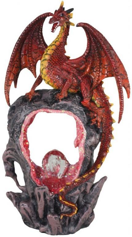 Photo of Portal of Flame Dragon Figurine Light Feature 27cm