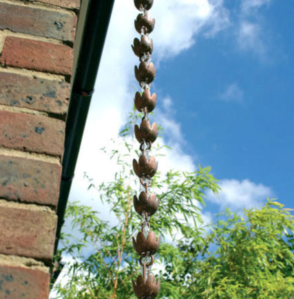 Photo of Rain Chain Tulip Down Pipe Ornament