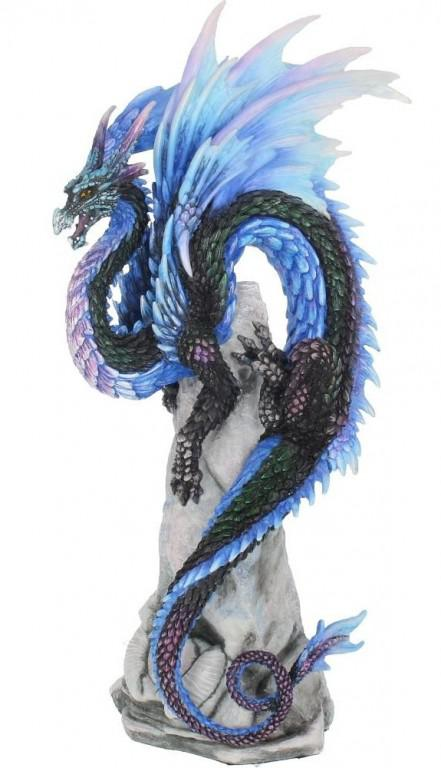 Photo of Sapphire Sentinel Dragon Figurine (Andrew Bill) 27 cm