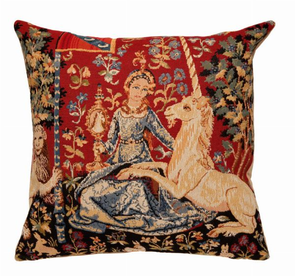 Phot of The View Medieval Tapestry Cushion