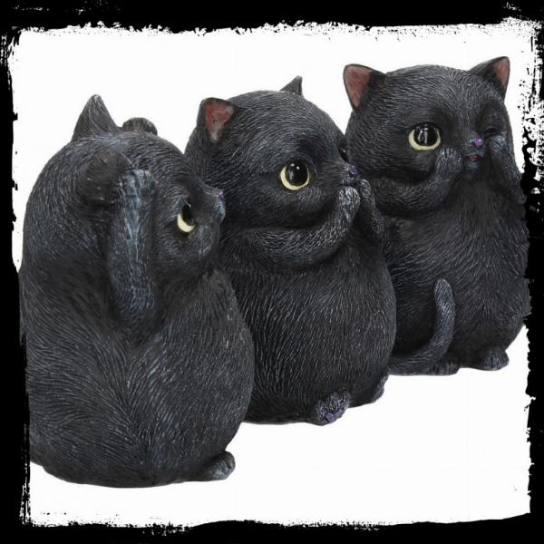 Photo of Three Wise Cats Figurines (Set of 3)
