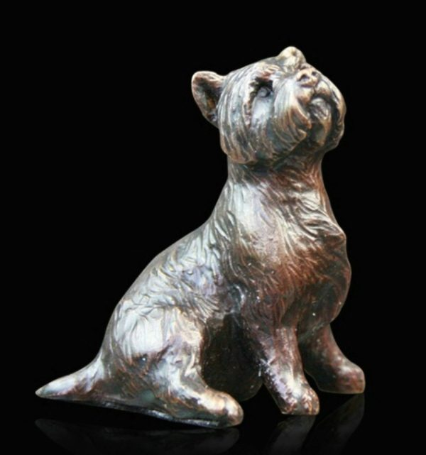 Photo of Westie Sitting Bronze Figurine (Limited Edition) Michael Simpson