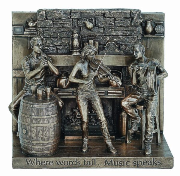 Photo of Where Words Fail, Music Speaks Bronze Figurine