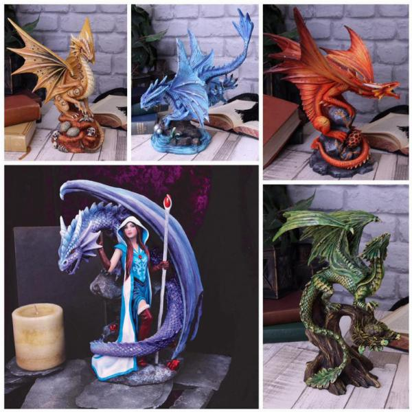 Photo of Adult Fire Dragon Figurine (Anne Stokes)
