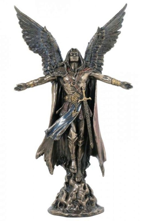 Photo of Archangel Uriel Bronze Figurine 28 cm