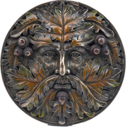 Photo of Autumn Tree Spirit Wall Plaque Green Man