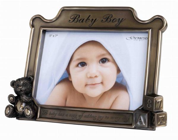 Photo of Baby Boy Bronze Frame
