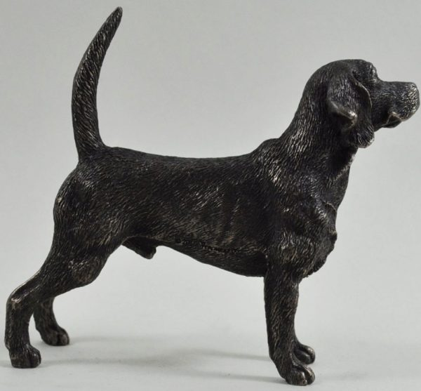Photo of Beagle Bronze Dog Sculpture