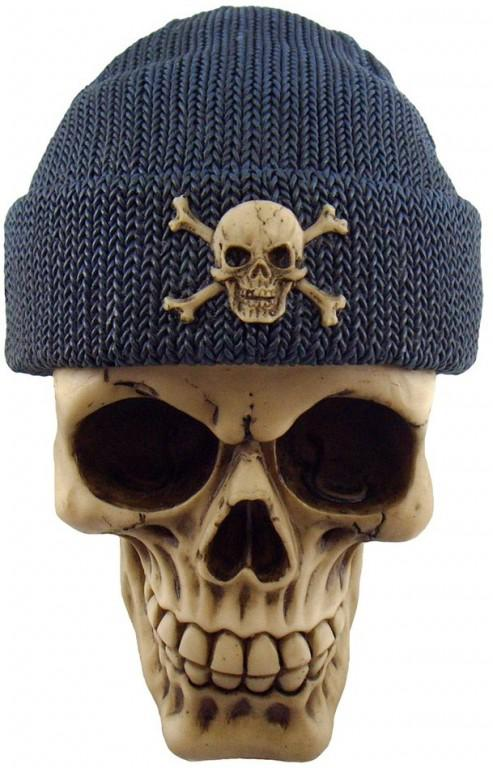 Photo of Blue Beanie Hat Skull