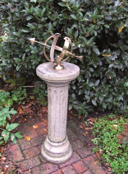 Photo of Brighton Stone Column with Brass Armillary