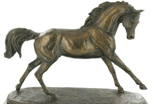 Photo of Cantering Arabian Horse Figurine (Harriet Glen)