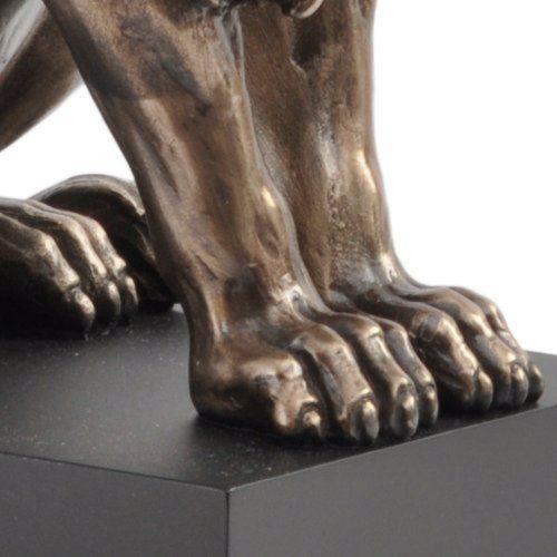 Photo of Classical Bronze Lion on Plinth 23 cm