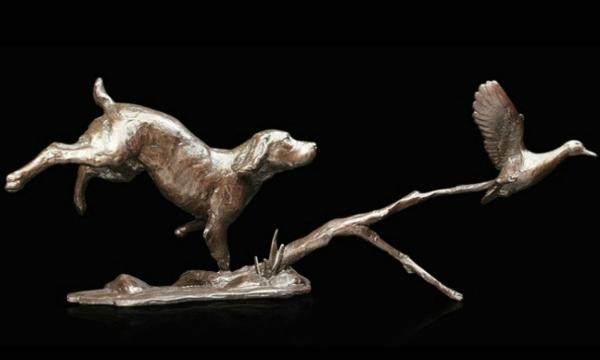 Photo of Cocker Spaniel with Duck Bronze Figurine (Limited Edition) Michael Simpson
