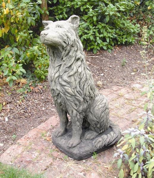 Photo of Collie Dog Stone Statue