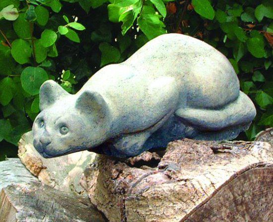 Photo of Crouching Cat Stone Ornament