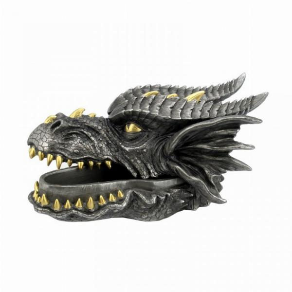Photo of Dragon Head Black and Gold Trinket Box