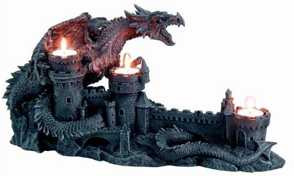 Photo of Dragon with Castle Candle Holder