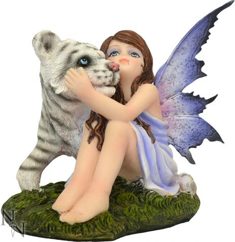 Photo of Fairy and White Tiger Figurine 12cm