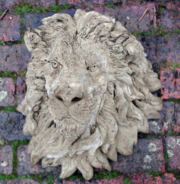 Photo of Grand Lion Head Stone Plaque (Large)
