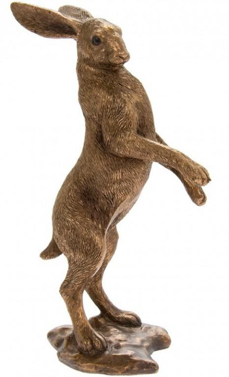 Photo of Hare Standing Bronze Figurine Leonardo Collection