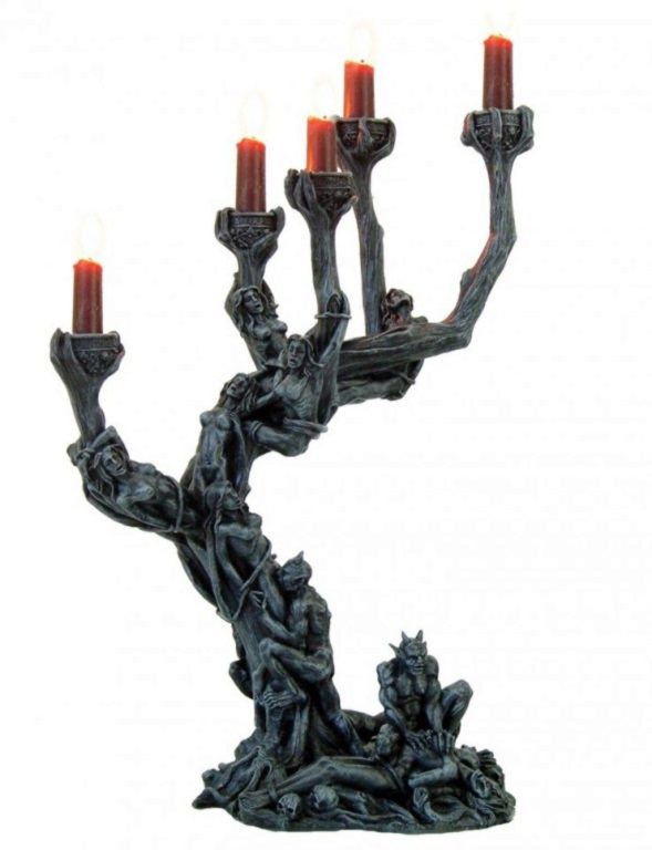 Photo of Hells Demon Orgy Candle Holder Large