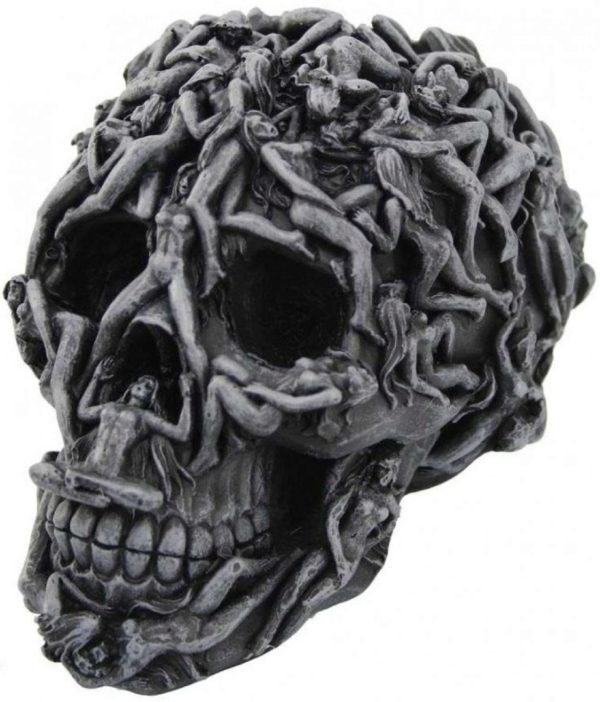 Photo of Hells Desire Skull Ornament 18cm