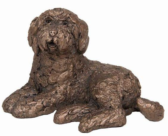 Photo of Koko Labradoodle Lying Bronze Sculpture (Frith) 12cm