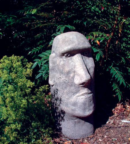 Photo of Moai Head Stone Sculpture