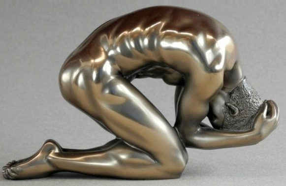 Photo of Nude Male Body Talk Bronze Figurine