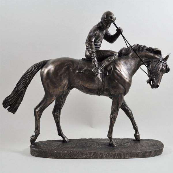 Photo of On Parade Horse Figurine David Geenty Large