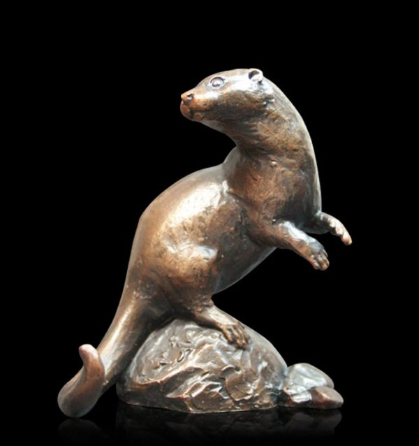 Photo of Otter Small Bronze Figurine (Limited Edition) Michael Simpson