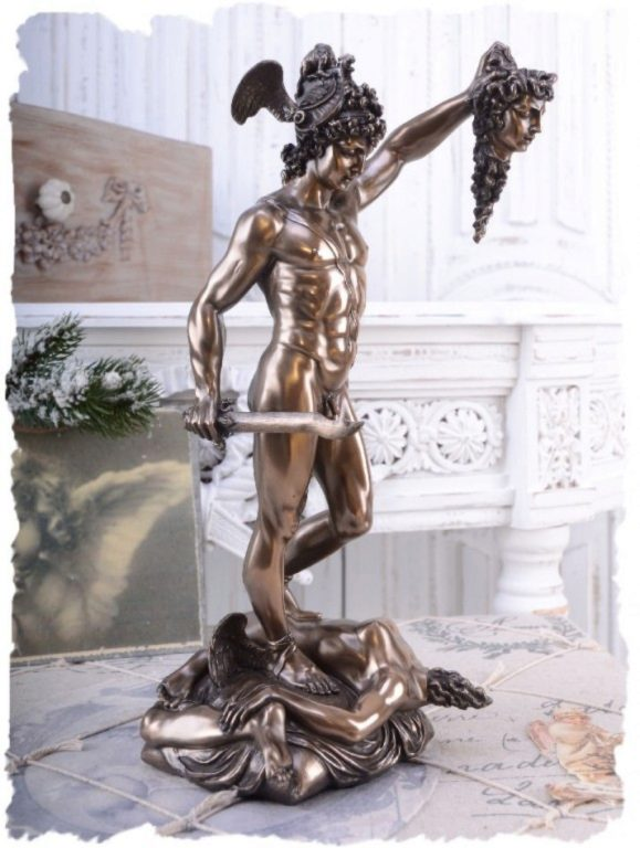 Photo of Perseus Holding the head of Medusa Bronze Figurine 34cm