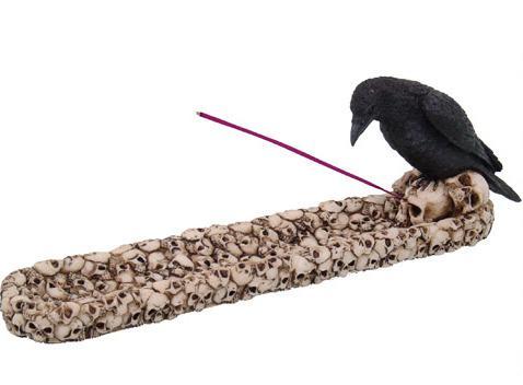 Photo of Raven Skull Incense Holder