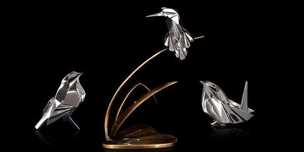 Photo of Robin Hallmarked Sterling Silver Miniature NOMI Design