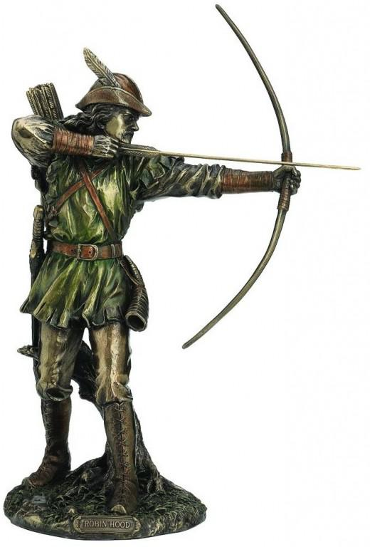 Photo of Robin Hood Bronze Figurine 30 cm