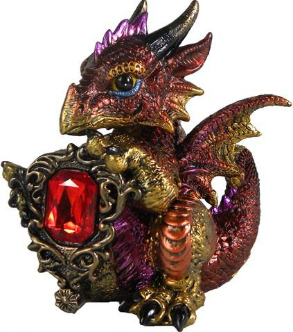 Photo of Ruby Dragonling Figurine (Alator) 12cm
