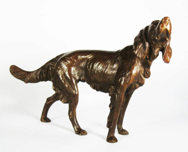 Photo of Setter Looking Up Bronze Ornament