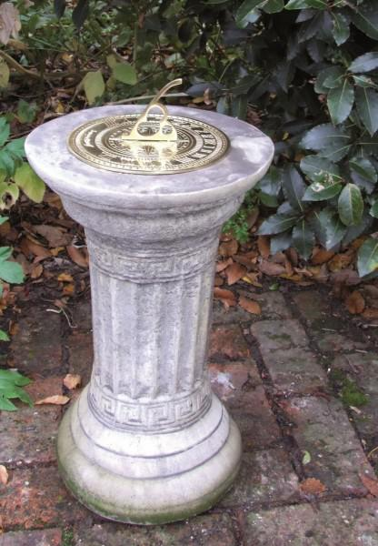 Photo of Small Stone Column with Brass Sundial
