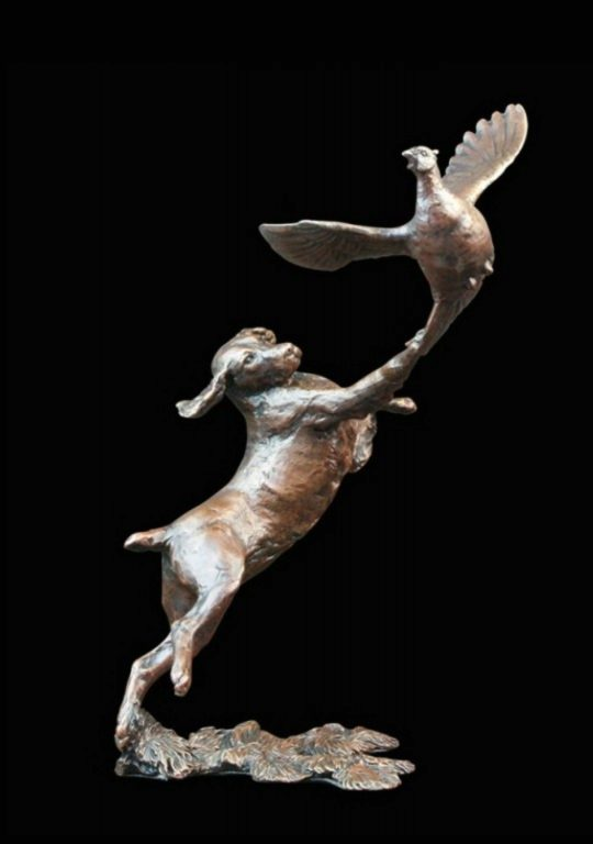 Photo of Springer Spaniel with Pheasant Bronze Figurine (Limited Edition) Michael Simpson